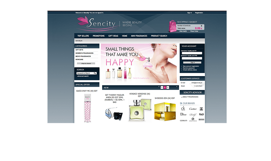 Online shop from IdoSell Shop: www.sencity.ie