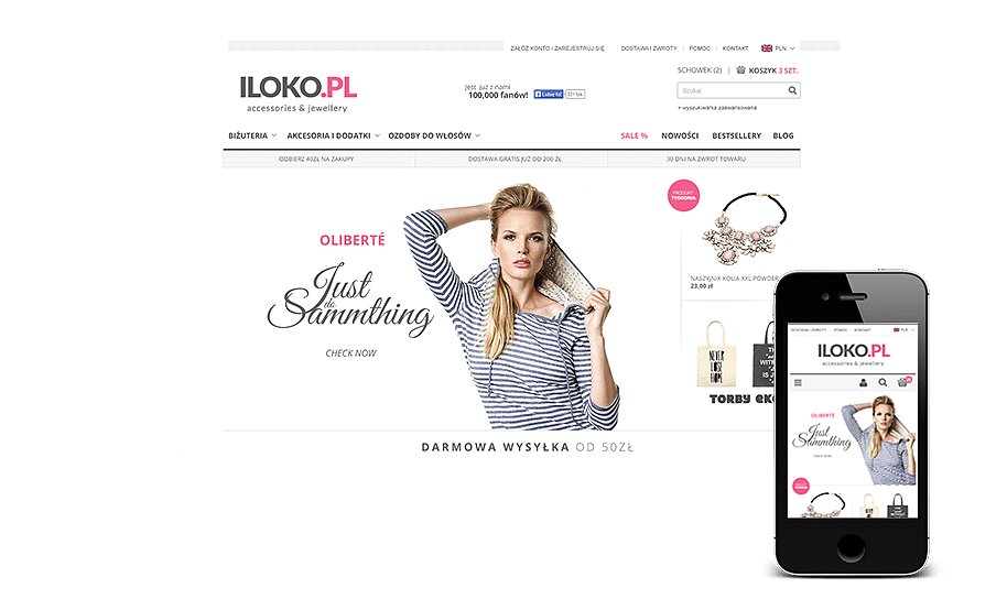 Sklep internetowy w IdoSell Shop: iloko.pl