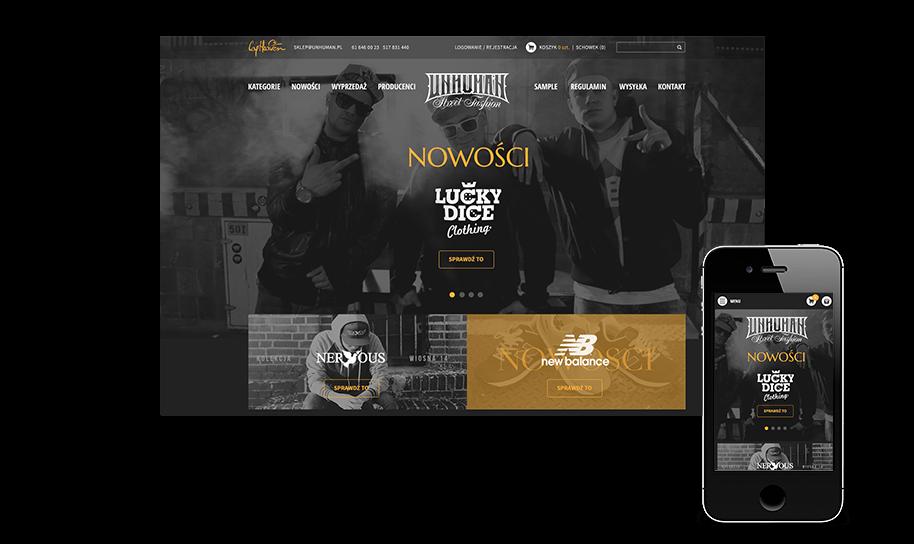 Sklep internetowy w IdoSell Shop: unhuman.pl
