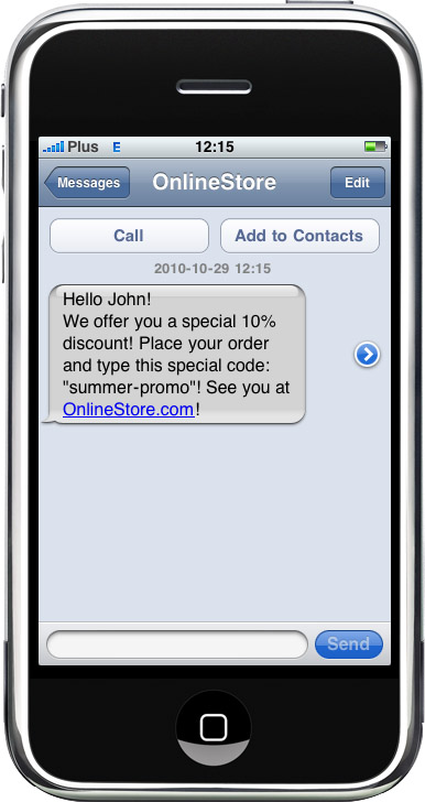 SMS notification - SMS Newsletter - one of the best available marketing methods