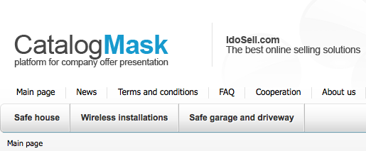 CATALOG mask - Logo and top can replaced with Your own