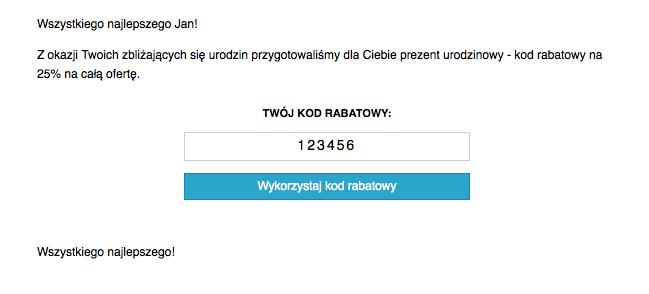 9a86edab9db67c email-example-withcode-pol - Przykład standardowego template  wykorzystującego indywidualnie generowany kod rabatowy
