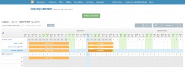 Property management system - Booking calendar