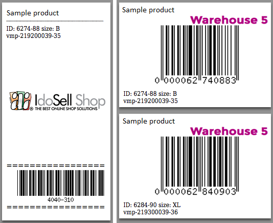generate product barcode labels automatically idosell shop