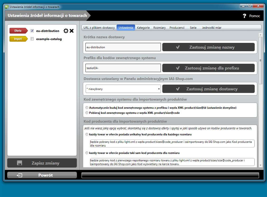 IAI Downloader - integracja z dostawcami, import oferty i