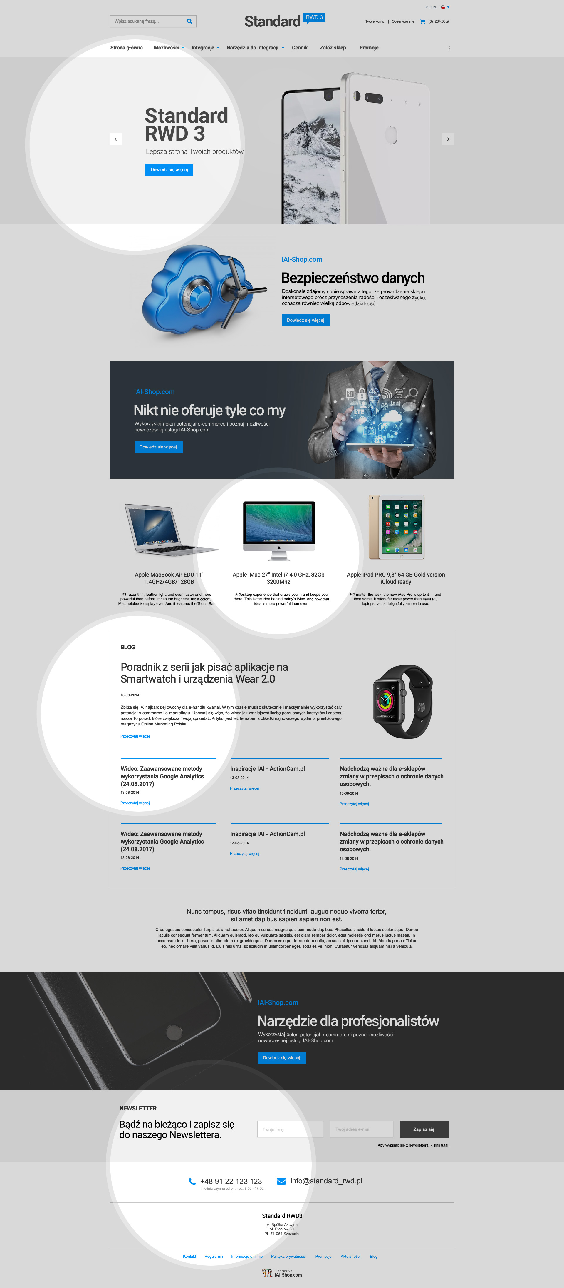 STANDARD RWD 3 template designed for online shops with fewer ...