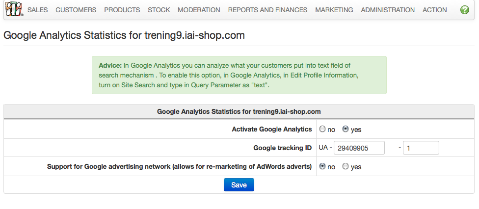Google Analytics - New panel layout