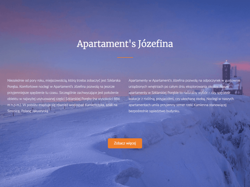 Apartament's Józefina - website for apartments