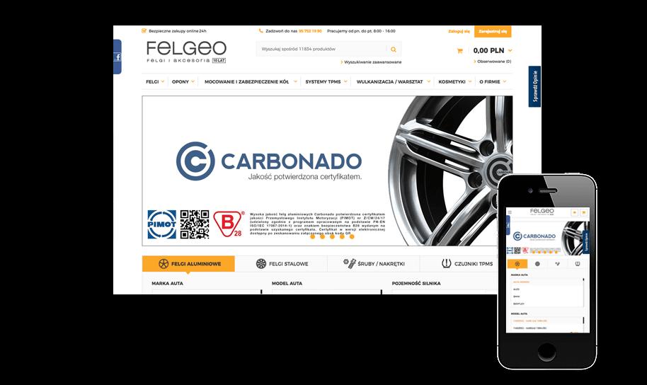Sklep internetowy w IdoSell Shop: felgeo.pl