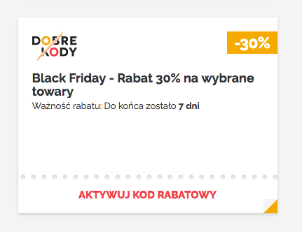 Kod rabatowy na Black Friday