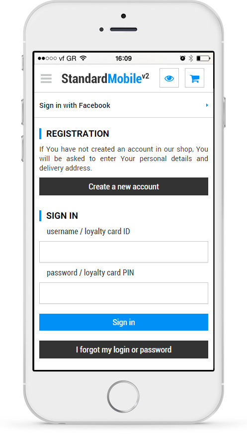 A customer can sign in with Facebook, Google or PayPal - easier and more convenient sign in process. There is no need to remember yet another sign in details as customers can use already exisiting accounts.